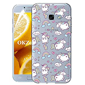 OKZone Galaxy A520 / A5 2017 Case with Screen Protector, Clear Cute Pattern Design Soft & Flexible TPU Ultra-Thin Shockproof Women Cover Cases for Samsung Galaxy A520 / A5 2017 (Unicorn)   4