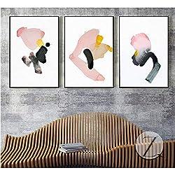 Rjjdd La nueva pintura de paisaje de tinta china cuadros abstractos 3 piezas decorativas pinturas decoración para sala de estar