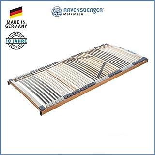 RAVENSBERGER MEDIMED® 44-Leisten 7-Zonen-BUCHE-Lattenrahmen | Starr | Made IN Germany - 10 Jahre GARANTIE | TÜV/GS + Blauer Engel - Zertifiziert | 100 x 200 cm