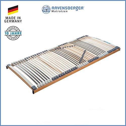 RAVENSBERGER MEDIMED® 44-Leisten 7-Zonen-BUCHE-Lattenrahmen | Starr | Made IN Germany - 10 Jahre GARANTIE | TÜV/GS + Blauer Engel - Zertifiziert | 120 x 200 cm