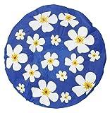 Duschhaube Dunkelblau Shower Cap Blumen-Motiv