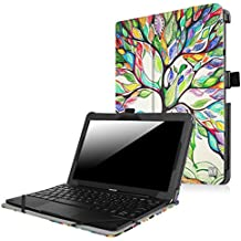 Funda Lenovo Miix 300 Case - Fintie Folio Slim Smart Case Funda Carcasa para Lenovo Miix 300 10 10.1 Pulgadas Tablet, Love Tree