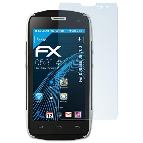 atFolix Schutzfolie kompatibel mit DOOGEE DG 700 Folie, ultraklare FX Bildschirmschutzfolie (3X)