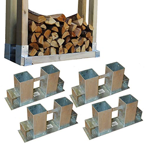 Holzstapelhilfe Feuerverzinkt stabile Holz Stapelhilfe Stapelhilfe Holzstapelhalter Brennholz Kaminholz Gestell Holz (8 Stück)