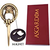 "Hand of the King Bottle Opener Merchandise Gift – Cool Fan Game Item In Red ""Lannister"" Gift Box – Letter & Beer Opener to Loyally Serve The Throne – Perfect Present For Men & Fans"