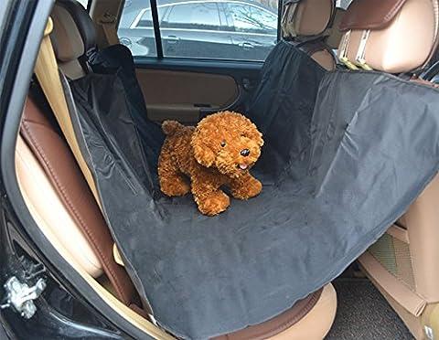 WSLCN Housse de Siège Auto Pour Animal Imperméable Couverture de Protection de Banquette Arrière Antidérapante avec Ancres Ceinture Réglable Taille Universelle pour Voiture SUV Camion Noir