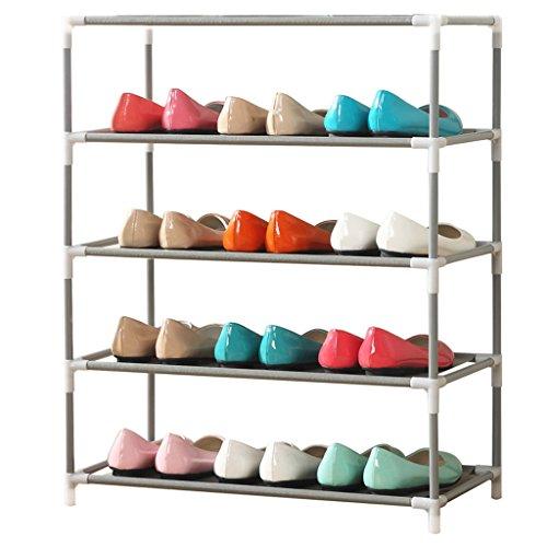 CKH Multifunktionaler kreativer mehrschichtiger Staub-Schuh-Gestell-einfacher moderner Stahlrohr-Speicher-Montageschuh -
