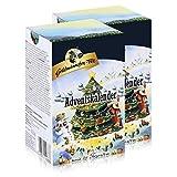 Goldmännchen-Tee Adventskalender mit 24 Teesorten 50g Tanne (2er Pack)