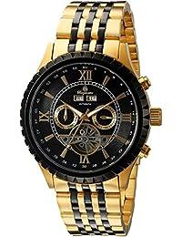 Burgmeister Herren-Armbanduhr XL Analog Automatik Edelstahl beschichtet BM327-227