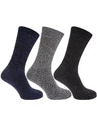 Calcetines de trabajo reforzados para botas Modelo Protective hombre caballero(Pack de 3)