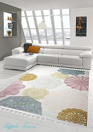 designer teppich moderner teppich wollteppich kreis muster mit ... - Wohnzimmer Rosa Turkis