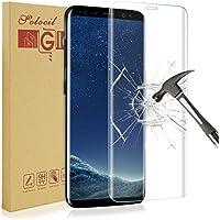 Verre Trempé Galaxy S8,Solocil Galaxy S8 Protection écran Anti Rayures -Haute Définition -Sans Bulles D'AIR -Ultra Résistant Dureté 9H pour Samsung Galaxy S8