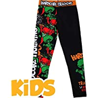 Hardcore Training Kids Compression Pants Angry Vitamins Spats MMA BJJ UFC Kompression Hose