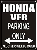 INDIGOS UG - Parkplatz - Parking Only honda-vfr - Parkplatzschild