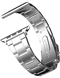Apple Watch Correa, JETech 38mm Correa de Acero Inoxidable Reemplazo de Banda de la Muñeca con Metal Corchete para Apple Watch Todos los Modelos 38mm (Plateado) - 2115