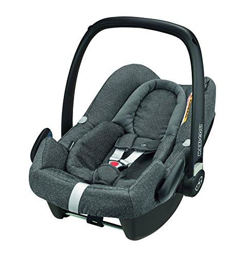 Maxi-Cosi Rock sichere Babyschale Gruppe 0 + (0-13kg), Kindersitz für ONE i-Size Konzept in Verbindung mit der Basisstation FamilyFix ONE i-Size,  sparkling grey (grau)