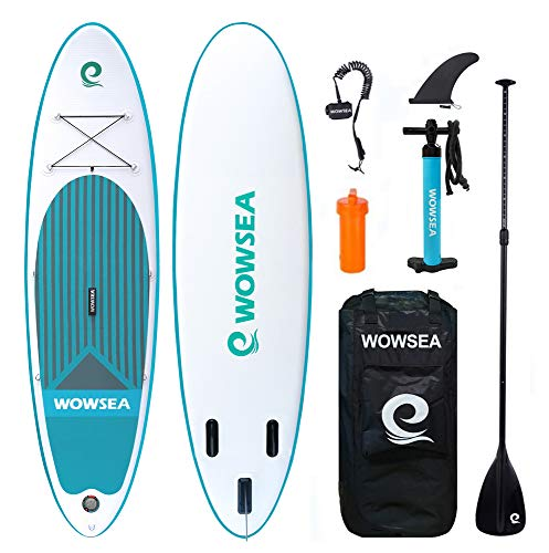 Aufblasbares Stand Up Paddle Board Set - WOWSEA AN1 inflatable SUP paddling board für Anfänger, 305cm, 15cm Dicke, Bis 150kg