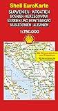 Shell EuroKarte : Slowenien, Kroatien, Bosnien-Herzegowina, Serbien und Montenegro, Makedonien, Albanien (Série Internationale) - MARCO POLO/SHELL