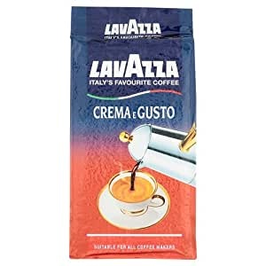 lavazza kaffee crema e gusto gemahlen filterkaffee geeignet f r mokka herdkanne 250g amazon. Black Bedroom Furniture Sets. Home Design Ideas