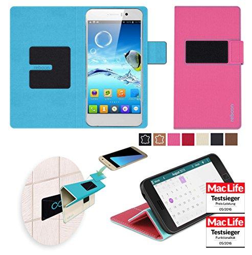 reboon Hülle für Jiayu G4 Turbo Tasche Cover Case Bumper | Pink | Testsieger