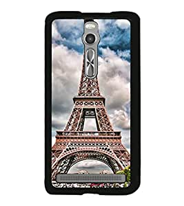 Eiffel Tower 2D Hard Polycarbonate Designer Back Case Cover for Asus Zenfone 2 ZE551ML