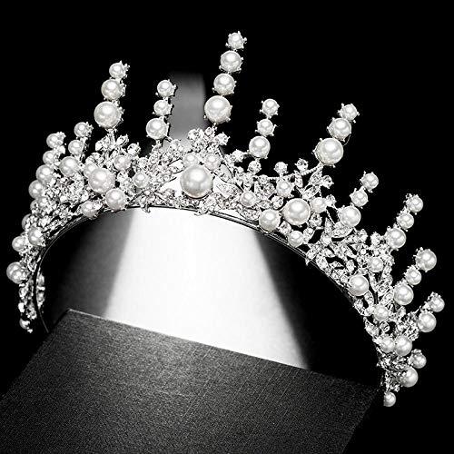 Hochzeitsschmuck Strass Braut Krone Perle Beauty Beauty Geburtstag Kostüm Ball Kopfschmuck Perle - Theater Kostüm Für Verkauf
