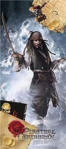 Pirates Des Caraïbes Papier Peint Photo/Poster - Jack Sparrow, Carte Au Trésor (202 x 90 cm)