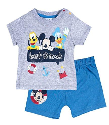 Disney Mickey Babies Conjunto camiseta y pantalón corto - Gris