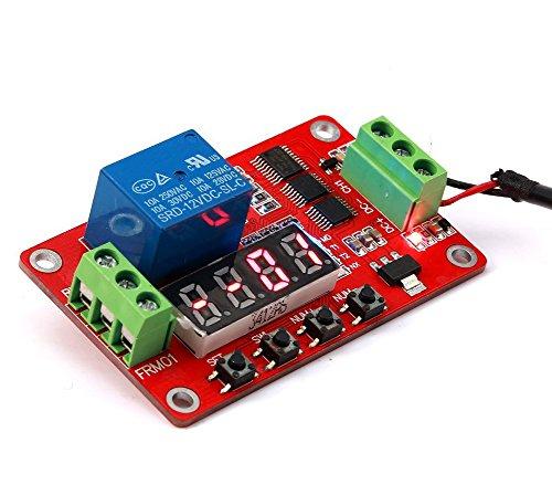 DaoRier FRM01 1-CH Kanal Multifunktion Relais Relay Modul 5V/12V/24V Loop Delay Timer Schalten Selbsthemmung, 12V - Delay-timer