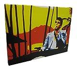 Al Pacino der Pate Canvas Wandbild Keilrahmen Gemälde Leinwand