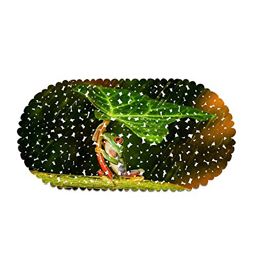 EU-VV rutschfeste Badematte Duschmatte Oval 70x35cm,Grüner Frosch rutschfeste Durable Duschmatte Badewannenmatte Mit Starken Saugnäpfen Dekorieren Sie Das Badezimmer, Gute Laune Dusche (Style 06)