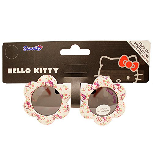 Hello Kitty Kinder-Sonnenbrille für Mädchen, 100 % UV-Schutz, Blumen-Sonnenbrille