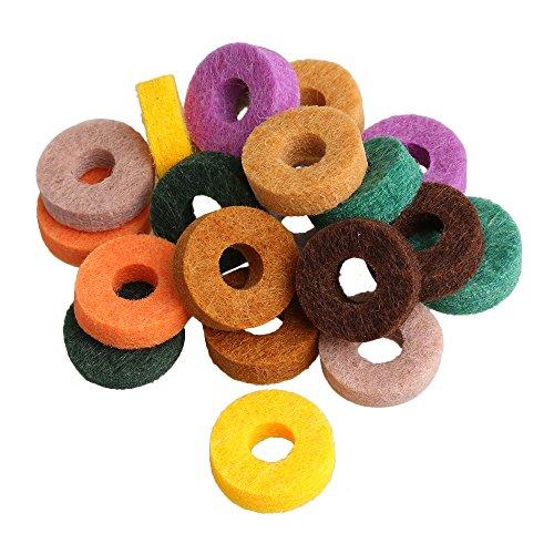 bqlzr 25mm OD 10mm ID Colorful Beckenständer Filz Waschmaschine Regal für Drums Set Set Musikinstrument Zubehör 20Stück
