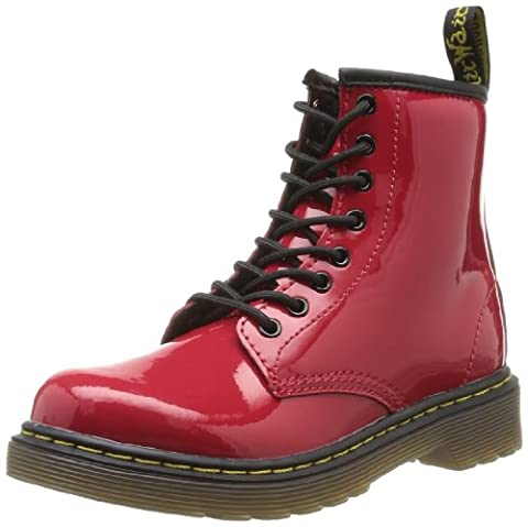 Dr. Martens DELANEY Patent RED, Mädchen Bootschuhe, Rot (Red) , 33 EU ( 1 UK )