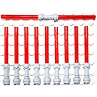 LEGO Star Wars - 9 red light sabers with additional red double light saber