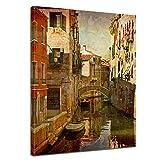 """Bilderdepot24 Cuadros en Lienzo """"Venecia V"""" - 30 x 40 cm - listo tensa, directamente desde el fabricante - Bilderdepot24 - amazon.es"""