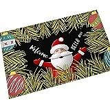 AMDXD Flanell Teppich Weihnachten Karikatur Schneemann Design Teppiche für Schlafzimmer Wohnzimmer Bunt 60x90CM