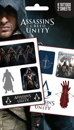 GB Eye Assassin's Creed Unity Mix Lot de Tatouages, Multicolore