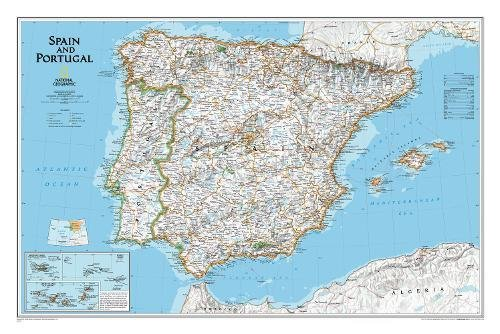 Spain & Portugal Classic, Laminated: Wall Maps Countries & Regions: NG.P622070 (National Geographic Reference Map)