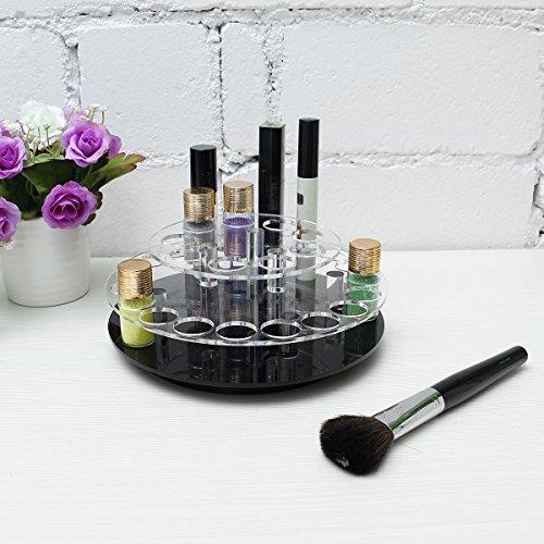 Bluelover Transparent Acrylique 28 Trous Maquillage Brosse Organisateur Cosmétique Présentoir 360 Tourner