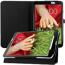 kwmobile Funda para LG G Pad 8.3 HD - Case delgado para tablet con soporte - Smart Cover slim para tableta en negro