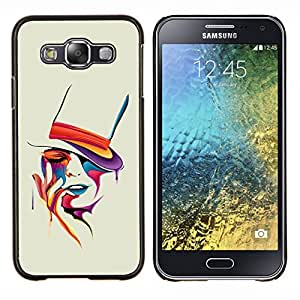Omega Covers - Snap on Hard Back Case Cover Shell FOR SAMSUNG GALAXY E5 - Colorful Art Portrait