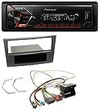 Pioneer MVH-S300BT MP3 Bluetooth Aux USB Autoradio für Opel Antara Astra H Zafira B ab 2005 Charcoal