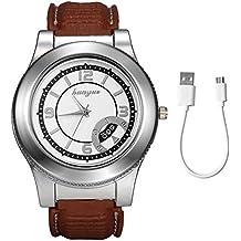 c4dff8746b74 Lancardo Reloj Comercial Analógico de Cuarzo Pulsera con Correa de Silicona  Dial de Números Romanos Encendedor