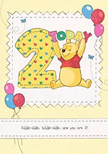 Winnie l'Ourson-Red Berry Hill Carte d'anniversaire 2 ans