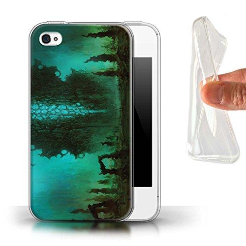 Offiziell Chris Cold Hülle / Gel TPU Case für Apple iPhone 4/4S / Pack 12pcs Muster / Fremden Welt Kosmos Kollektion Alien Landschaft