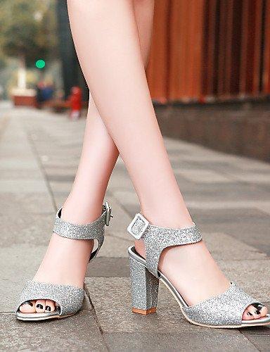 UWSZZ IL Sandali eleganti comfort Scarpe Donna-Sandali / Scarpe col tacco-Formale / Casual / Serata e festa-Tacchi / Spuntate-Quadrato-Sintetico-Viola / Rosso / Argento / golden