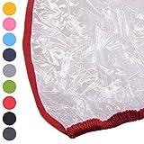 BAMBINIWELT Regenschutz, Regenhaube für Kinderfahrradsitze, Wetterschutz für Fahrrad-Kindersitze (rot)