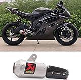 Huashao Schneller Motorradauspuff, Edelstahl Scorpio Auspuff, passend für Yamaha Yahama YZF-R6 R6 Abgasmodifikation