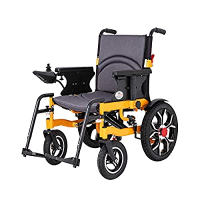 GYH Electric Wheelchair, Folding Portable Intelligent Automatic Wheelchair, Disabled Four-Wheeled Scooter, Load 100kg (#)